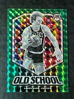 2019-20 Panini Mosaic Larry Bird Old School Green Mosaic Prizm #8 Celtics
