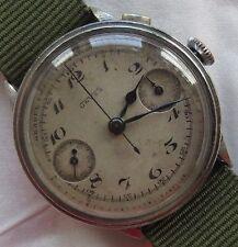 Unver Chronograph mens wristwatch Nickel Chromiun Case 38 mm. in diameter