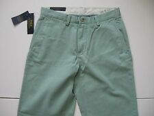 POLO RALPH LAUREN Men's Classic-Fit Green Flat Front Chino Pant 34x30