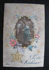 CPA  vintage Carte Porte Bonheur N°13 Couple mode années 20