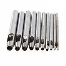 10x 0.5mm-5mm Punch Leather Belt Hole Maker/Gasket/Card/Paper/Plastic/Canvas Cut