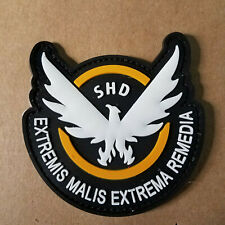 The Division SHD Die cut PVC Patch 3 1/2 inches w/hook & loop attachment B