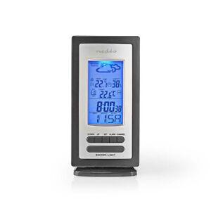 Stazione meteorologica, barometro, igrometro, termometro, orologio, calendario