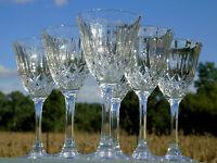 Service de 6 verres à vin blanc en cristal d'Arques, modèle Capri
