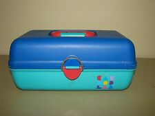 Vintage Caboodles Makeup Cosmetics Pageant Case organizer caddy box blue green