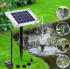 2.5w 250 L/h Solar Power Fountian Outdoor Pond Pool Water Pump 4 Heads