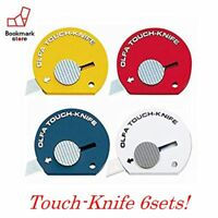 *NEW Olfa Touch Knife assorted each [PACK OF 6 ] Easy to use cutter Free Ship!!