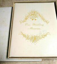 Vintage unused C. R. Gibson Embossed Wedding Memories, Guests, Gifts Book 1974