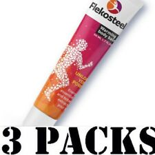 3 packs Flecosteel 150ml(5,07 oz)warming balm for the body with increased stress