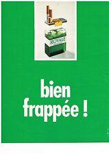 PUBLICITE ADVERSTISING  1973   ROYALE   cigarette