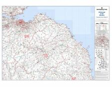 Postcode Sector Map 26 Edinburgh and Borders - Laminated Wall Map