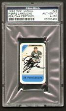 Pierre Larouche signed autograph auto 1982 Post Cereal Hockey Card PSA Slabbed