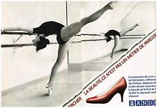 "Publicité Advertising 1980 (2 pages) Chaussures André Centre de Danse ""Drugshow"""