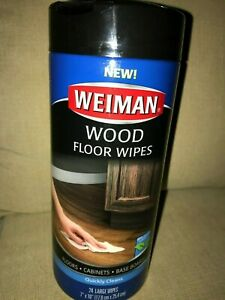Weiman Wood Floor Wipes 24 per Pack Large Size 7x10 Baseboards Cabinets NEW