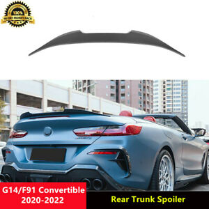 G14 Trunk Spoiler Matt Carbon Wings for BMW G14 F91 Convertible 2020-22 A Style