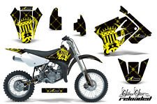 AMR Racing Graphics Decal Kit Suzuki RM 85 Sticker Wrap 2002-2012 RELOAD YELLOW