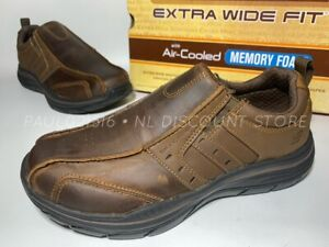 SKECHERS Men's Extra Wide Fit Air Cooled Memory Foam 66417 ~ Brown ~ Size 8 EWW