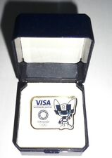 2020 Olympic Games Tokyo Worldwide Olympic Partner VISA with Mascot PIN & CASE