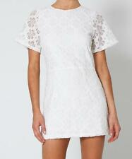 New with Tags ALICE IN THE EVE White Floral Lace Open Back Mini Dress Size 10
