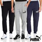 Puma Mens Logo Fleece Pants Tracksuit Bottoms Sports Sweat Gym joggers S M L XL