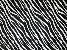BLACK & WHITE ZEBRA PUNK ANIMAL PRINT STRETCH COTTON ELASTANE TWILL FABRIC