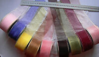 Sheer Shiny Ribbon Edged 50mm Wide - 3,4,5,6&10Metres 16 colour Choice ARD8 H6C