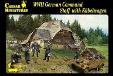 Caesar 1/72 WWII German Command Staff w/ Kubelwagen (10 Figures) Army Men H095