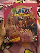 Barbie Party Print and Play Windows Cd-Rom Brand New 1997 Vintage