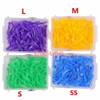 FDA CE 400pcs Dental Plastic Poly Wedges With Dental Holes 4Colors 4 Sizes/set