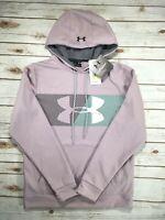 Mens Under Armour Hoodie Coldgear Storm Pullover Sweatshirt Purple M NW/DEFECT