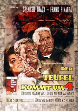 TEUFEL KOMMT UM 4 * SPENCER TRACY - A1-FILMPOSTER - German 1-Sheet ´61 SINATRA