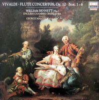 EMX 2105 Vivaldi Flute Concertos William Bennett George Malcolm 1986 NM/EX