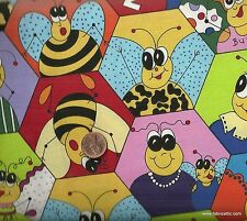 Beez  bugs funny cute Northcott  fabric