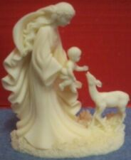 "Alabaster Figurine ""Gentle Love"" Mother Baby Fawn 5"" Tall Roman 1996 Deer"