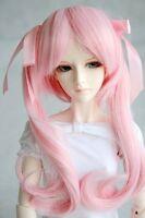 """[wamami] 71# Wavy Pigtail Pink Wig 1/3 SD DZ DOD BJD Doll Dollfie 8-9"""""""