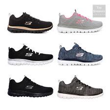 Scarpe da Donna Skechers Memory Foam Sneakers Sport Nero Bianco Grigio Fuxia Blu