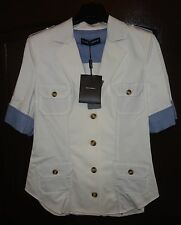 DOLCE & GABBANA White SHORT SLEEVE TOP SHIRT Size 40 IT NEW