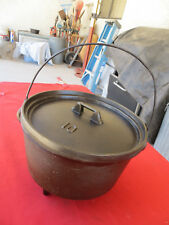 Rare Vintage KING Stove & Range Martin #10 Cast Iron Camp Oven Dutch Chuckwagon