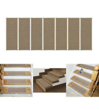 Escalier Collection 8.5x26.6in 13Pack Stair Treads Beige Carpet New