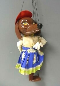 Vintage Pelham Puppets SL63 Dachshund, Boxed