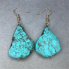 Bohemian Natural Turquoise Earrings Dangle  Ms gift CARNIVAL Classic Fashion
