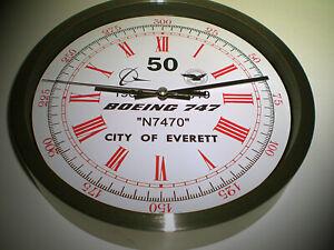 Boeing 747 Maiden Test Flight Wall Clock, 50th Year, City Of Everett 1969-2019.