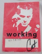 2005 Sinead O'Connor Working Catering Crew Satin Backstage Pass Cincinnati Ohio