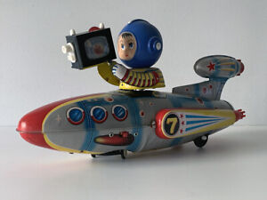 Universe TELEVIBOAT Tin Vintage Space Toy Starship Rocket