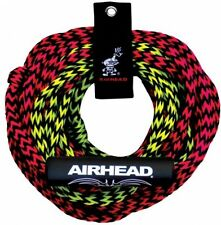 """Tow Rope AHTR-4000 Airhead Deluxe Water Tube Boat Ski Rope 2 Rider 7/16"""" 60' NEW"""