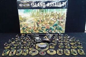 Warlord Games Bolt Action Island Assault WWII Starter set - well painted minis.