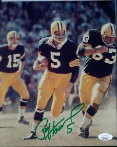 Paul Hornung Green Bay Packers Signed 8x10 Glossy Photo JSA Authenticated
