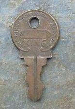 Antique Brass Key  # MK 400  King Lock Company of Chicago