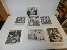 Lot of (7) B&W Press Photos 1954 Hall of Fame Football Player Otto Graham