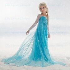 Girls Kids  Elsa Frozen Dress Costume Princess Anna Party Dress Cosplay 2-3T